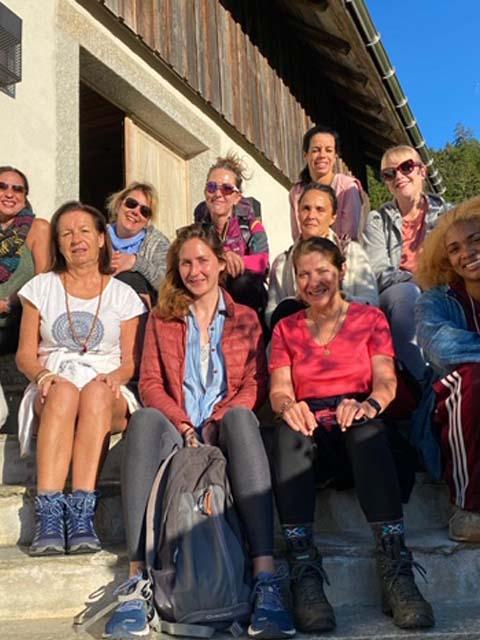 Women yoga and divine feminine retreat, French Alps